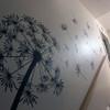 Customer photo of The Glinda dandelion vinyl wall decal in black