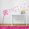 The Glinda dandelion vinyl wall decal in pink