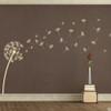 The Glinda dandelion vinyl wall decal in beige