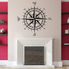 The Erasmus compass rose vinyl wall or ceiling decal in black