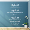 Numbers 6:24-26 vinyl wall decal quote in white