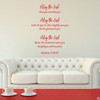 Numbers 6:24-26 vinyl wall decal quote in dahlia red