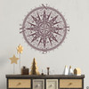 The Sherlock compass wall decal, shown here in limited edition eggplant color.