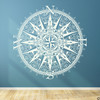 The Sherlock compass wall decal, shown here in limited edition antique lace color.