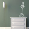 Hand drawn Agave Americana wall decal plant in white.