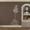 Hand drawn Agave Americana wall decal plant in beige.