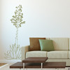Hand drawn Agave Americana wall decal plant in olive.