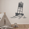 The Cape May Harbor 2CM Buoy wall decal in dark grey.