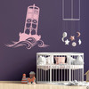 The Cape May Harbor 2CM Buoy wall decal in carnation pink.