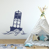 The Cape May Harbor 2CM Buoy wall decal in dark blue.