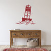 The Cape May Harbor 2CM Buoy wall decal in dark red.