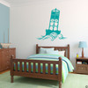 The Cape May Harbor 2CM Buoy wall decal in turquoise.