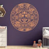 The Aztec Calendar wall decal in limited edition apricot vinyl color.