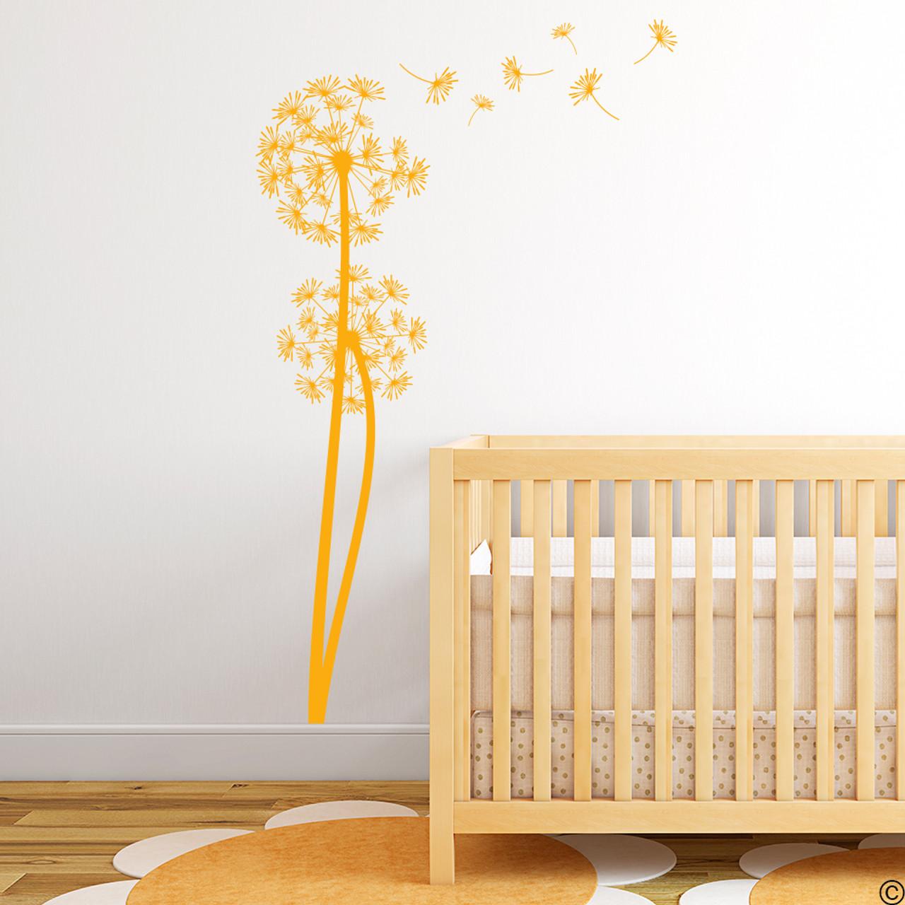 The Olsen twin Dandelion wall decals in golden yellow