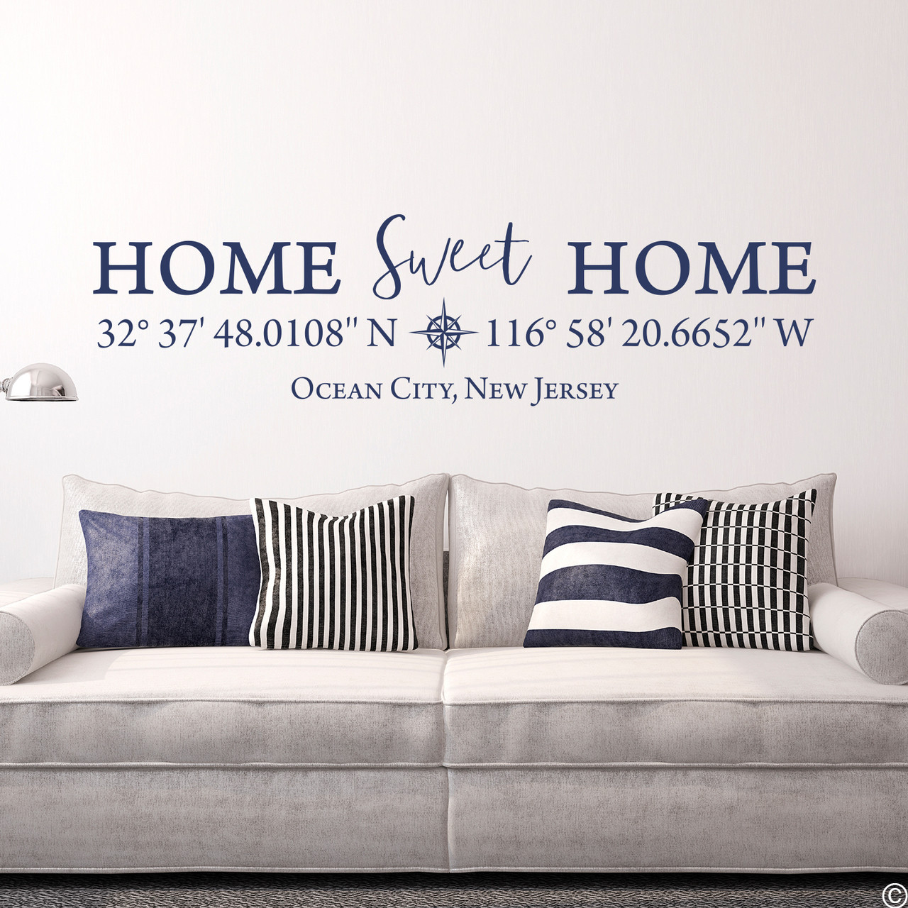 Home Sweet Home Tennessee Wall Decal State Silhouette Vinyl Art for Home Decor Living Room or Family Room Decoration