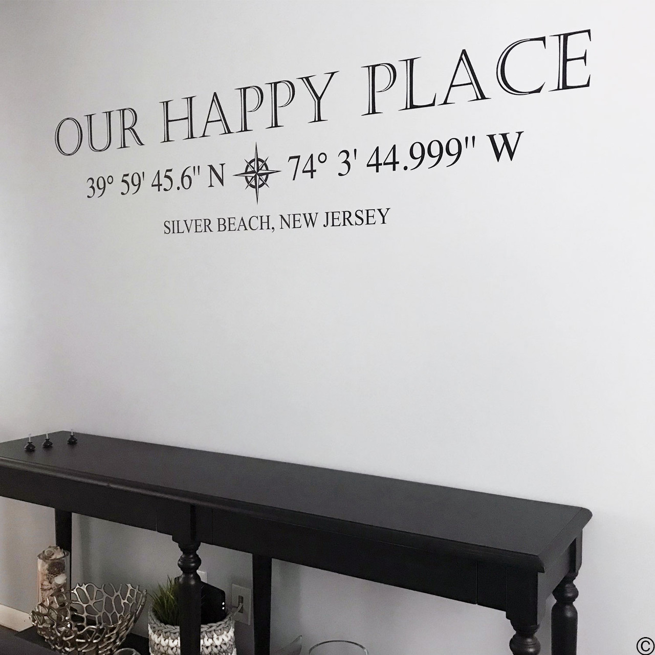 Customer photo of Our Happy Place with coordinates customized to Silver Beach, NJ.