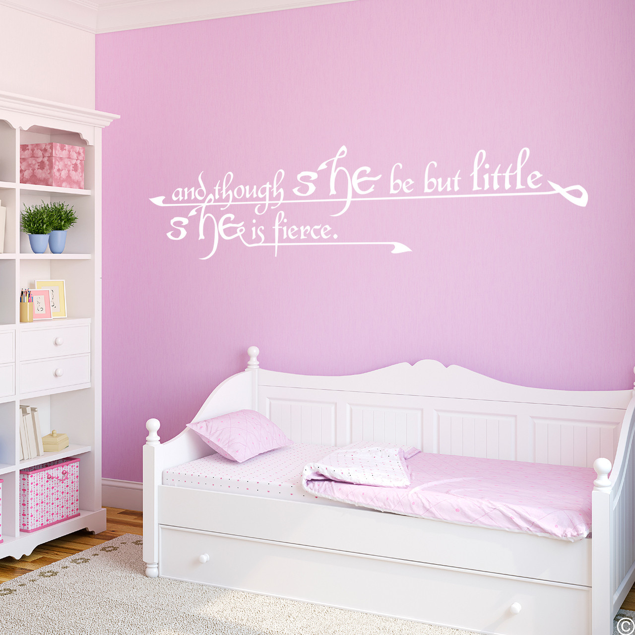 And Though She Be But Little She Is Fierce Vinyl Decal  280 Butterflies