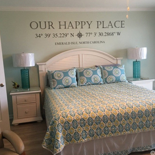 Customer photo of Our Happy Place with coordinates customized to Emerald Isle, NC.