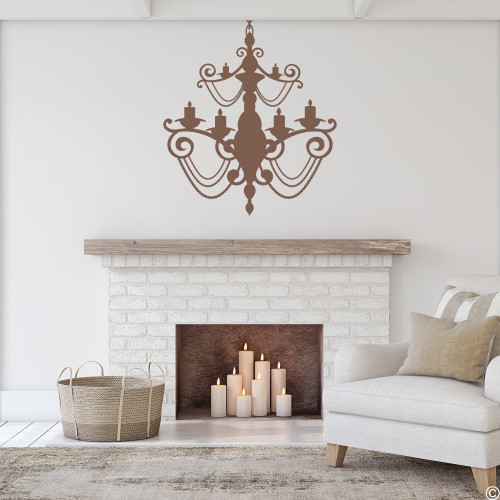 The Chandelier 8 wall decal in limited edition espresso vinyl.