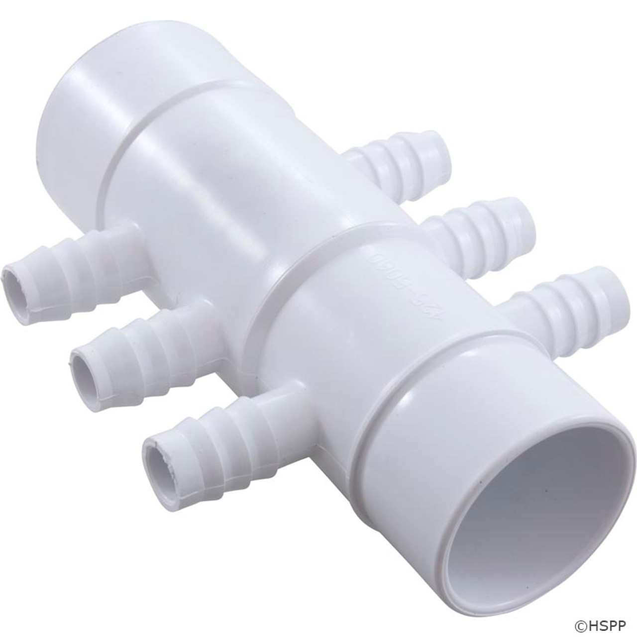 """PVC Water Manifold 2/""""S x 2/"""" Spig with 4 3//4/"""" Barbs Spa Hot tub Waterway 672-7140"""