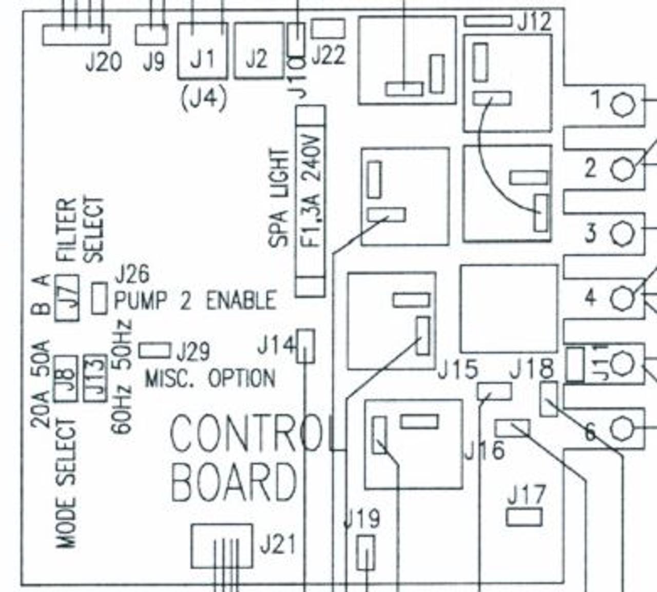 QCA Spas 51777 Q2002 Circuit Board Balboa