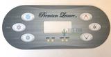 Premium Leisure 6 Button Control Panel Overlay VL600S