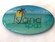 Artesian Island Spa Pillow Logo Dome