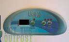 Baja Spa Control Panel Overlay 3 Button Crescent BAJA-B8519959-3