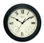 Clock Thermometer Hygrometer Black 52558