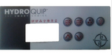 HydroQuip 6 Button Overlay 6085 Hydro Spa