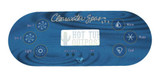 Clearwater Spa Beachcraft Oval Control Panel Overlay 12218