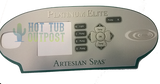 Artesian Spa Platinum Elite Overlay OP11-0039-77 4-Pump