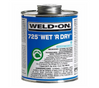 eld On Wet R Dry PVC Glue 725 Blue Cement