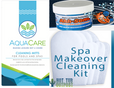 Hot Tub Spa Cleaning Kit with mitts and pipe purge