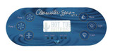 Clearwater Spa 6 Button Control Panel Overlay 12890 2 Pumps