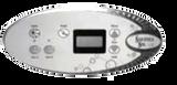 Saratoga spa control panel shown with optional overlay