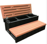 LASS36-SC 36 inch hot tub step with hinged lid LASS36-SC-R