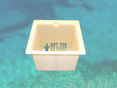 Skim Box Basket Emerald Spas White