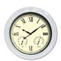 "18"" Clock Thermometer Hygrometer White 52557"