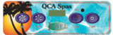 Overlay QCA Spas Jewel Series VS500 4-Button Control Panel Blower 11485