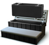 LASS36-SC-G  new style 36 inch storage steps