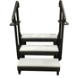 Signature 3 tier steps in 2 tone gray with black handrails - current - new model