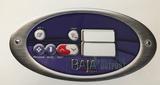 Baja Spas 1 Pump Overlay 6 Buttons 851-9952