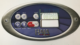 Baja Spas 2 Pump Overlay Graphic 7 Buttons 851-9953