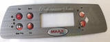Maax Coleman Spa Performance 6 Button Control Panel Overlay 107734
