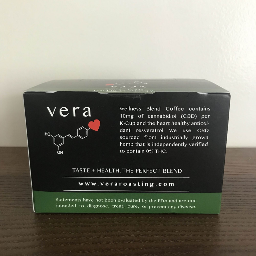 back of wellness blend coffee box