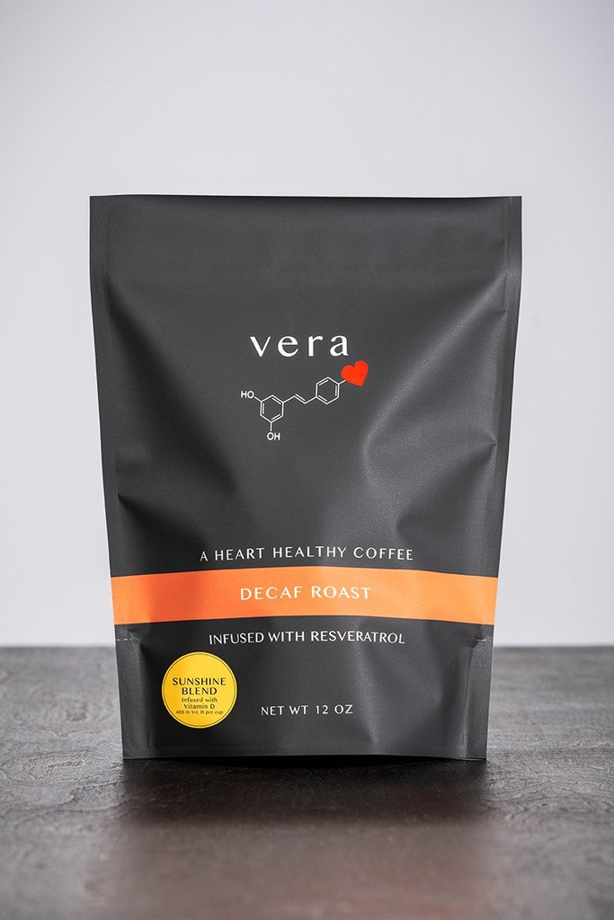 Resveratrol-infused Decaf Roast Sunshine Blend Coffee is smooth, delicious and good for you