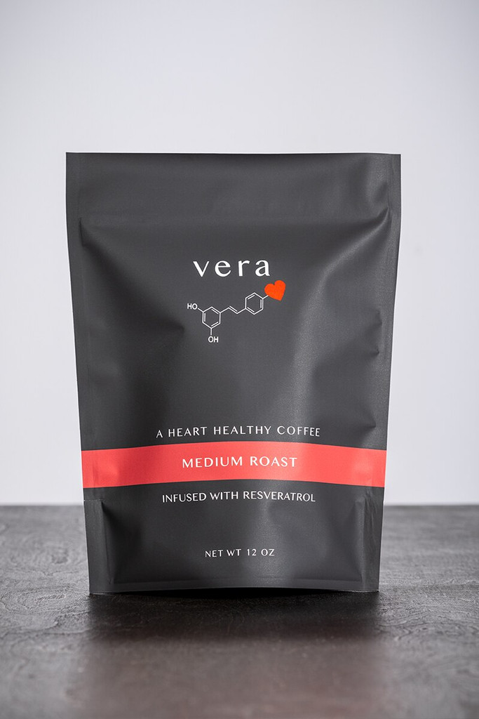 Resveratrol-infused Medium Roast Coffee is smooth, delicious and heart healthy.