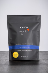 Resveratrol-infused French Roast Sunshine Blend Coffee also contains Vitamin D