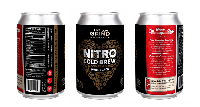 Live & Grind Coffee Co. Releases the World's Only Heart Healthy Nitro Cold Brew Cans